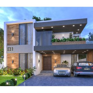 1 Kanal 2 Storeys Contemporary House with 5 Beds & 6 Baths