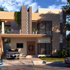 10 Marla Contemporary House with 4 Beds Double Storey