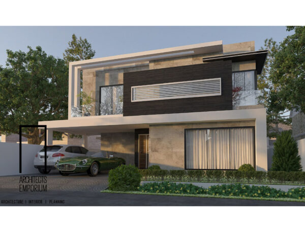 1 Kanal House Plan Contemporary Style
