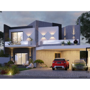 10 Marla House Plan Fine lines Style